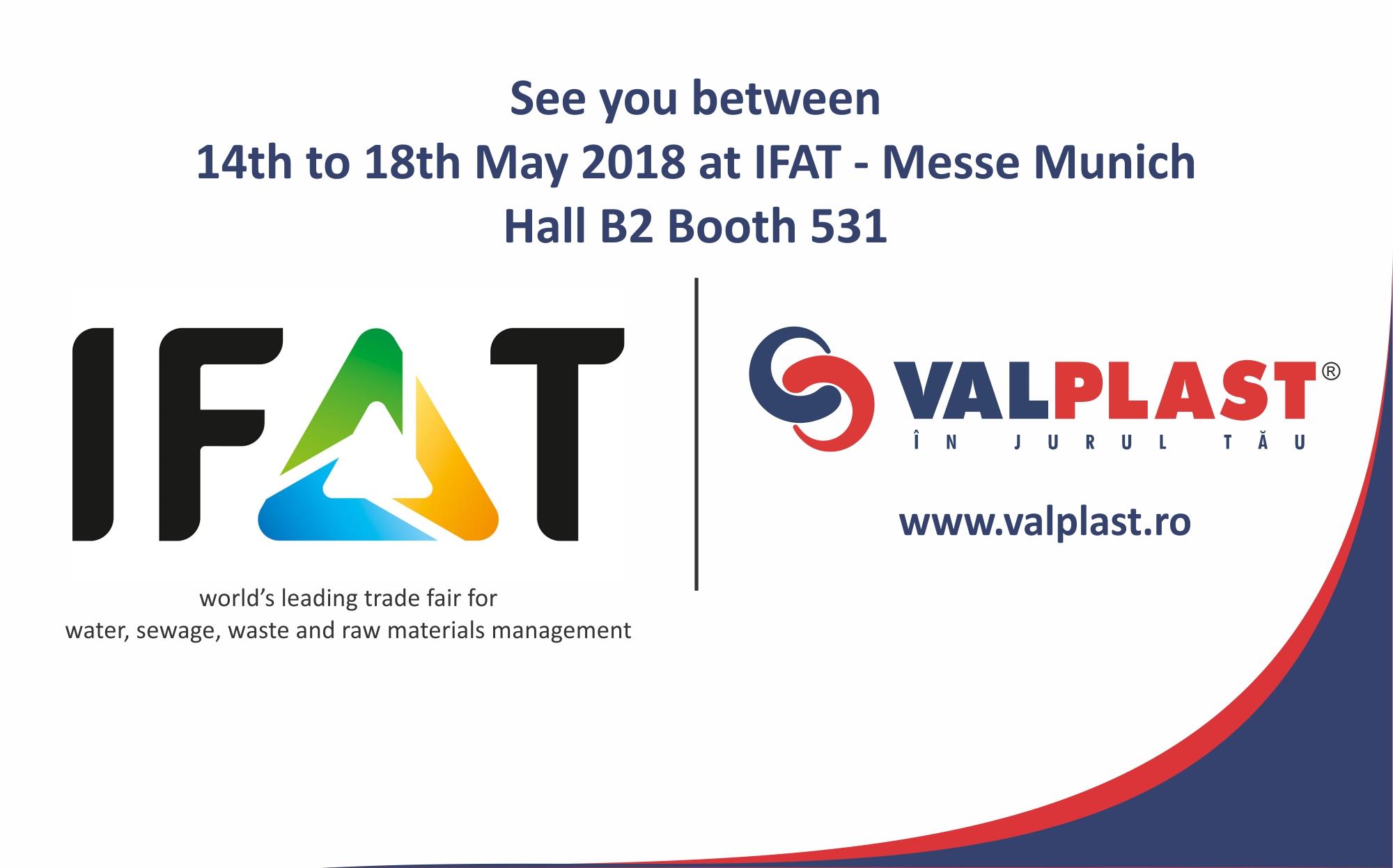 Valplast Industrie la IFAT între 14-18 mai