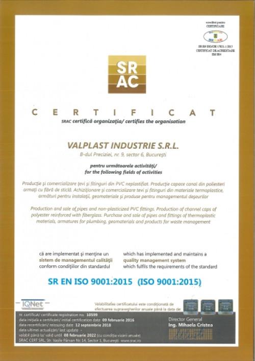certificat valplast-iso9001