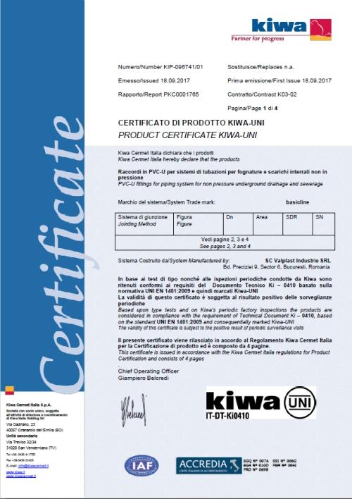 certificat kiwa